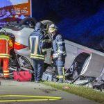 Plötzlich ausgeschert: Auto wich aus und überschlug sich auf A4 bei Erfurt