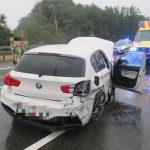 Auf regennasser Fahrbahn zu schnell: Unfall auf der A4 bei Ronneburg