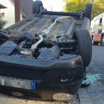 84-Jähriger schwer verletzt: Aufgrund von Schwindel in Arnstadt überschlagen