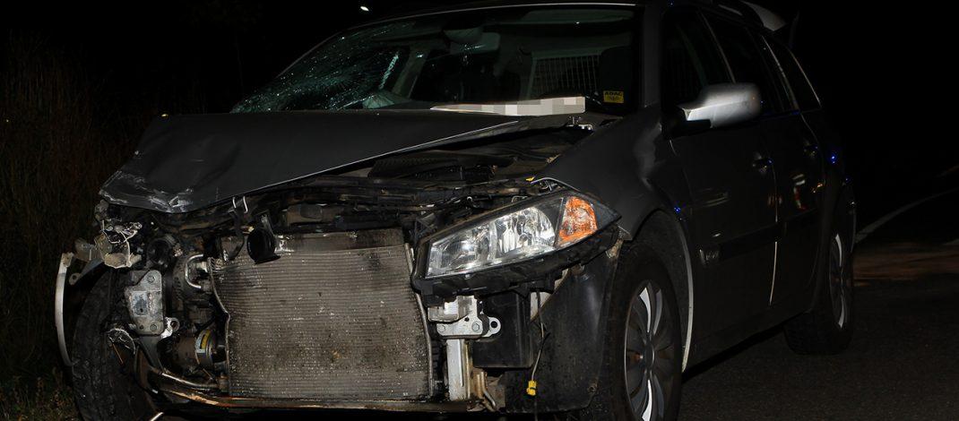 Mann bei Verkehrsunfall auf B4 nahe Sondershausen leicht verletzt