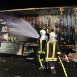 Stundenlange Sperrung: LKW auf der A38 kurz hinter dem Heidkopftunnel ausgebrannt