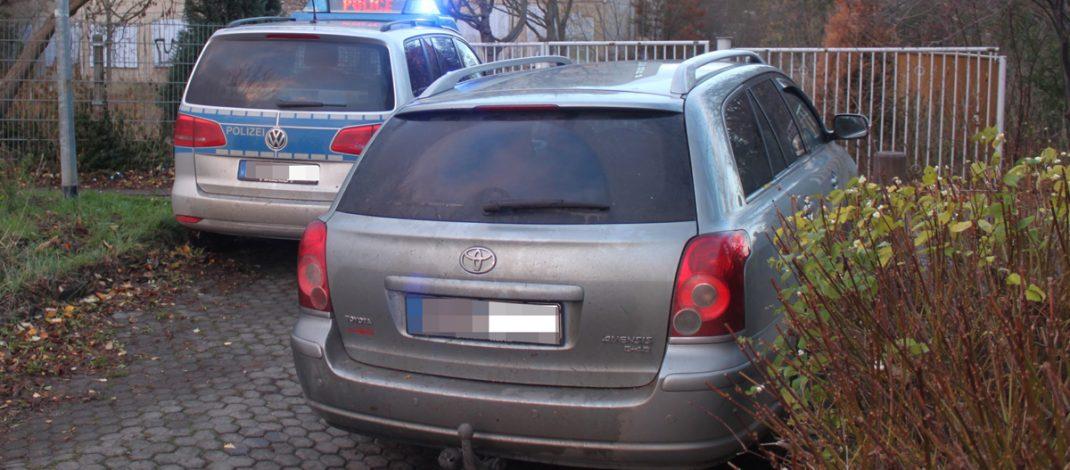 Rasante Flucht vor Polizei in Erfurt unter Drogeneinfluss endet in einer Sackgasse