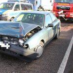 Unfall mit vier Fahrzeugen nach Reifenschaden auf der A4 bei Mellingen