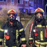 Kellerbrand in Sömmerda: Rettung über Drehleiter und mit Fluchthauben
