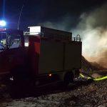 Rindenmulch brannte: Rauch über dem Gewerbegebiet Friesau