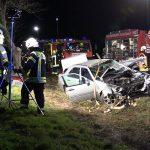Schwerer Verkehrsunfall im Weimarer Land - Rettungshubschrauber im Einsatz