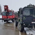 Kurzzeitiger Stau nach Unfall der Bundeswehr auf A9 bei Tanna