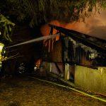 Hoher Sachschaden bei Brand eines Bungalows in Tambach-Dietharz