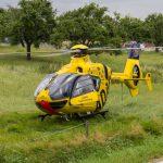 Rettungshubschrauber im Einsatz: Unfall auf der B281 bei Neustadt an der Orla
