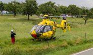 Motorradfahrer nahe Greiz schwer verletzt – Rettungshubschrauber im Einsatz