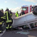 Zwei Verletzte nach Unfall auf der A4 zwischen Bucha und Magdala