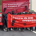 Großeinsatz von Polizei und Bundespolizei zur Antifa-Demo in Eisenach