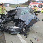 Auto unter Sattelzug: Zwei Schwerverletzte auf der A9 bei Schleiz