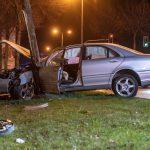 21-Jähriger gibt zu stark Gas und kracht gegen Baum in Erfurt – Drogen im Spiel?