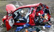 Unimog schleudert Seat auf Koppel im Kreis Hildburghausen