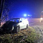 Auto fährt zwischen Heiligenstadt und Flinsberg gegen einen Baum