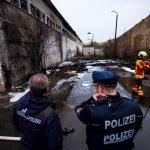 Reifen brannten auf dem alten Schlachthofgelände in Erfurt