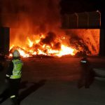 Wieder Brand auf Deponie bei Apolda: Feuerwehren lange im Einsatz