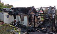 Flammen weithin sichtbar: Gartenhaus in Heldrungen abgebrannt