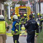 Feuerwehr in der Innenstadt von Kahla im Einsatz: Haben Kinder gezündelt?