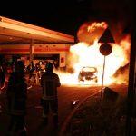 Gefährlicher Brand an Tankstelle in Weimar kann schnell gelöscht werden