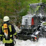 Forstmaschine in Waldgebiet im Unstrut-Hainich-Kreis ausgebrannt