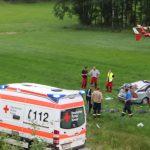 Familie fliegt von A9 und wird schwer verletzt - Drei Rettungshubschrauber im Einsatz