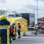 Gefahrgutzug des Ilm-Kreises bei Logistikunternehmen im Einsatz