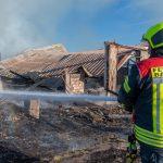 Scheunenbrand bei Bad Berka fordert massiven Feuerwehreinsatz