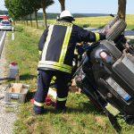 Überholen missglückt? Fahrer nach Unfall bei Blankenhain schwer verletzt