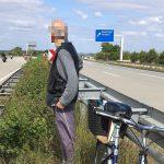 Geisterfahrer: 80-Jähriger fährt mit Fahrrad entgegengesetzt der A4 bei Gera auf