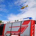 Überholen missglückt: Auto überschlägt sich bei Magdala - Rettungshubschrauber im Einsatz