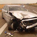 Abstand falsch eingeschätzt: Unfall auf der A71 bei Artern - Ohne Verletzte