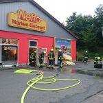 Wollten Einbrecher Spuren verwischen? Brand zerstört Bäckerei-Filiale in Bad Sulza