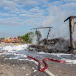 Laster mit Lithium-Ionen- Akkus brannte auf A4 - Vollsperrung dauert länger an