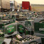 Bierladung verloren: Verkehrsbehinderungen auf der B4 bei Sondershausen