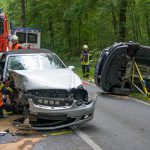 Wieder schwerer Unfall nördlich von Weimar - Frau im Fußraum eingeklemmt