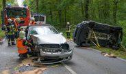 Wieder schwerer Unfall nördlich von Weimar – Frau im Fußraum eingeklemmt