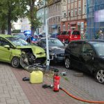 Abgekommen und gegen Laterne geprallt: Hoher Schaden bei Unfall in Nordhausen