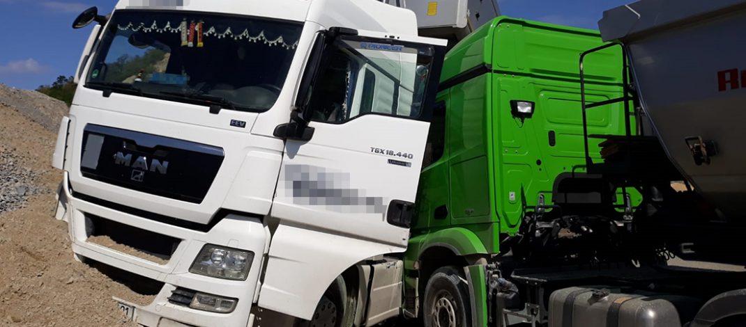 Herzattacke am Steuer: LKW-Fahrer verhindert Schlimmeres in Steinbruch