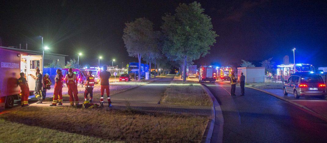 Brandfall in einer Produktionsfirma im Gewerbegebiet in Arnstadt