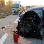 Drei Personen teils schwer verletzt nach Unfall auf A38 bei Heiligenstadt