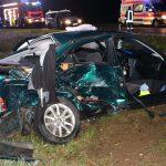 Schwerer Unfall bei Schleiz - Zwei Rettungshubschrauber im Einsatz