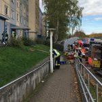 Starke Rauchentwicklung bei Kellerbrand in Gotha - 36 Personen gerettet