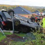 Wagen landet in Nordhausen auf Dach - Feuerwehr befreit Fahrer