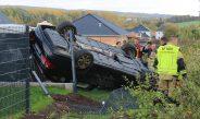 Wagen landet in Nordhausen auf Dach – Feuerwehr befreit Fahrer