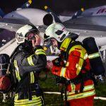 145 Einsatzkräfte an Notfallübung am Flughafen Erfurt-Weimar beteiligt