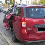 Unfall auf dem Weg zum Einsatz: Streifenwagen in Weimar übersehen