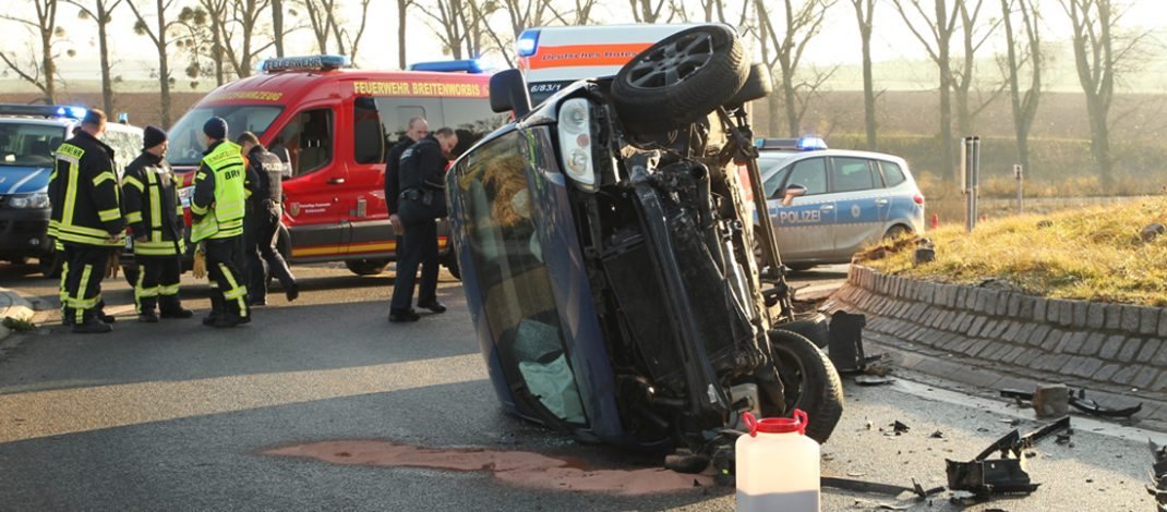 Kreisverkehr übersehen: Unfall mit über zwei Promille in Breitenworbis