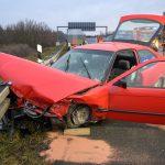 Schwerer Unfall auf A4 bei Mellingen - Rettungshubschrauber im Einsatz